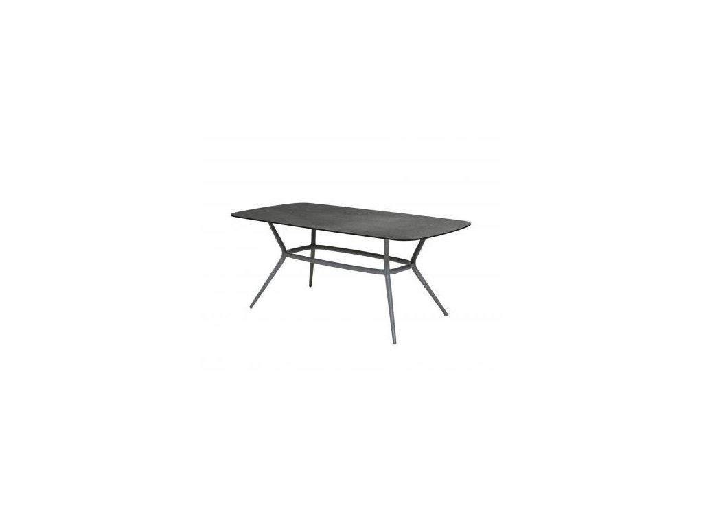Cane-line Jídelní stůl Joy 180x90 cm - světle šedá, tmavě šedá
