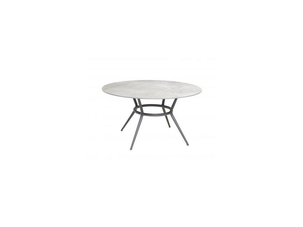 Cane-line Jídelní stůl Joy Ø 144 cm - světle šedá, šedá