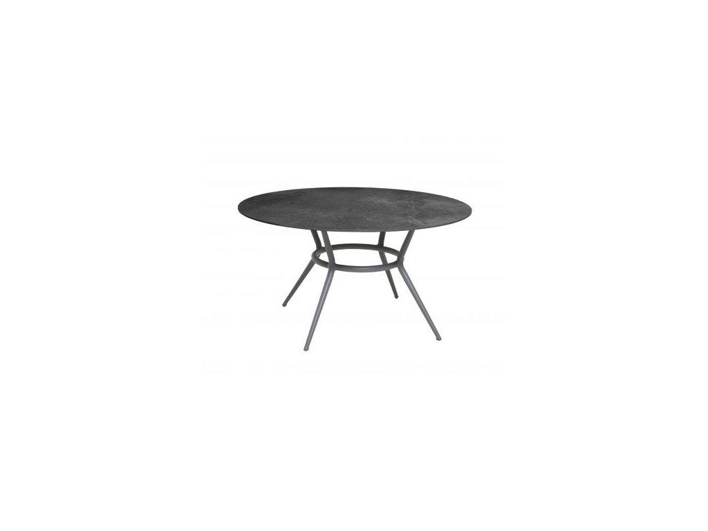Cane-line Jídelní stůl Joy Ø 144 cm - světle šedá, černá