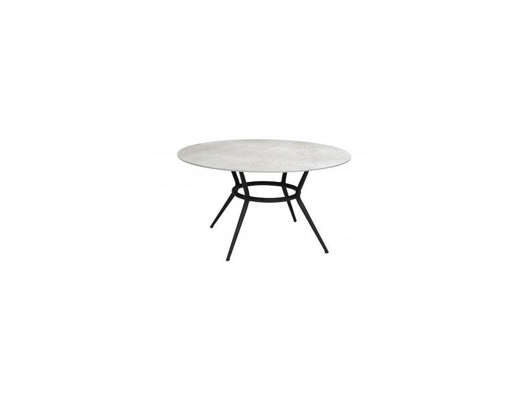 Cane-line Jídelní stůl Joy Ø 144 cm - šedá, lávově šedá
