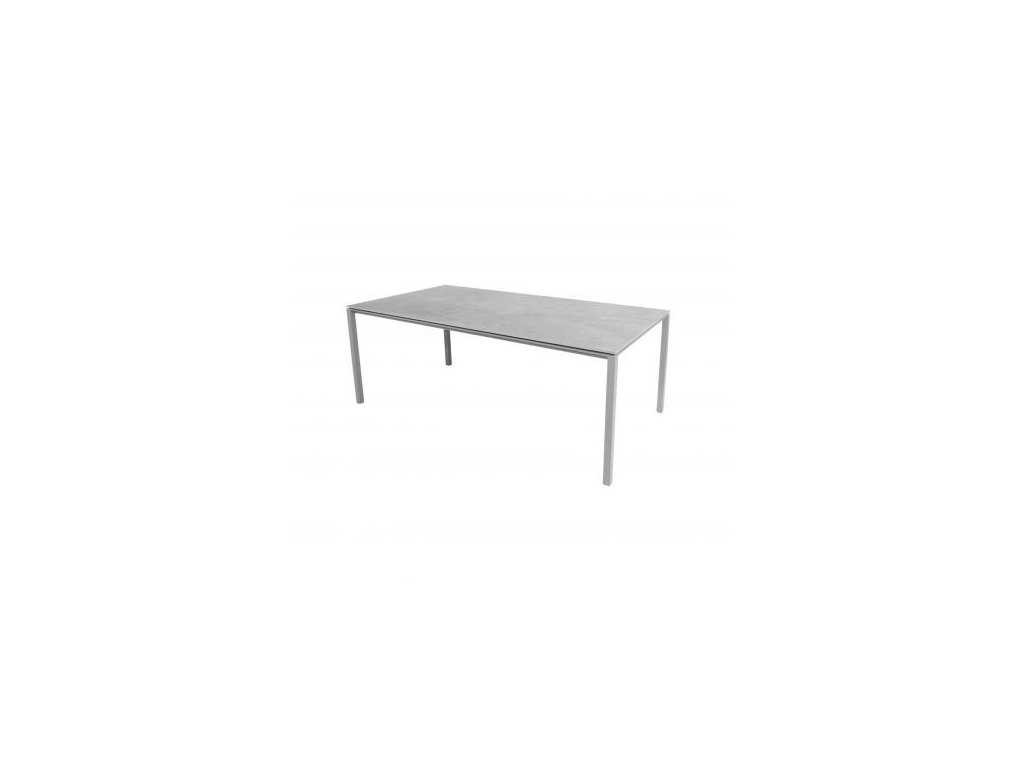 Cane-line Jídelní stůl Pure 200x100 cm - světle šedá, šedá