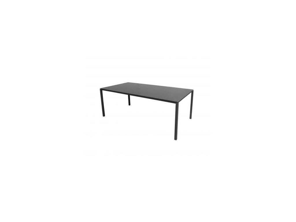 Cane-line Jídelní stůl Pure 200x100 cm - lávově šedá, černá