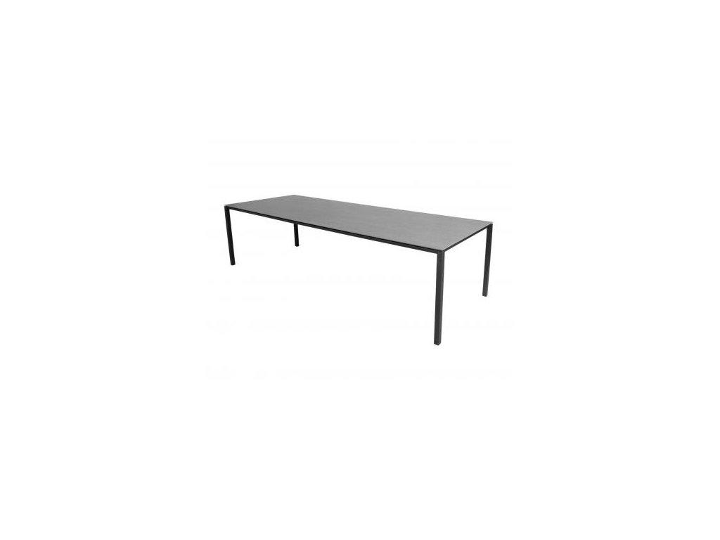Cane-line Jídelní stůl Pure 280x100 cm - lávově šedá, čedičově šedá