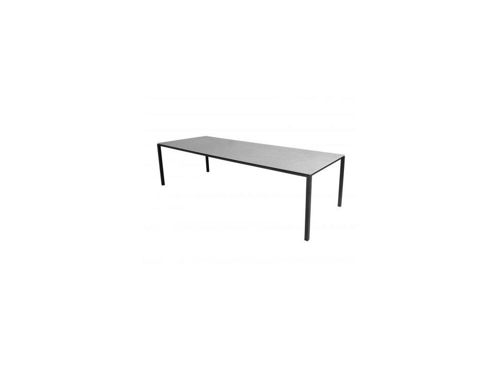 Cane-line Jídelní stůl Pure 280x100 cm - lávově šedá, betonově šedá