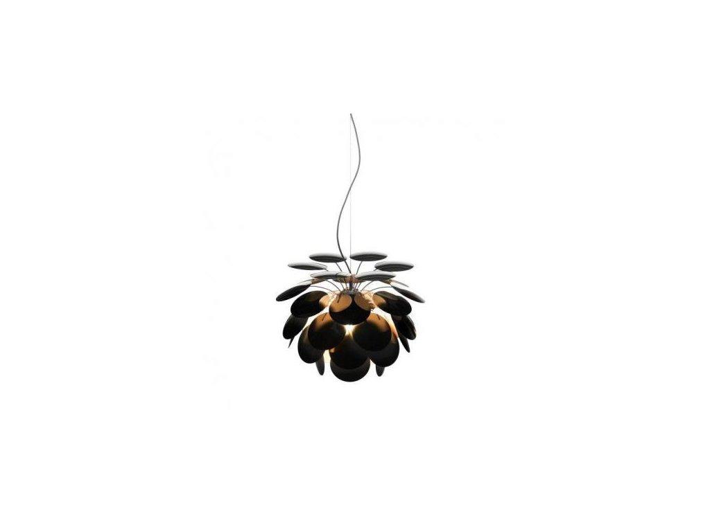 Marset Závěsná lampa Discocó Ø 68 cm - černá, zlatá