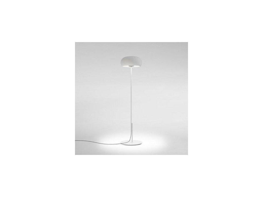 Marset Stojací lampa Vetra - černá / bílá