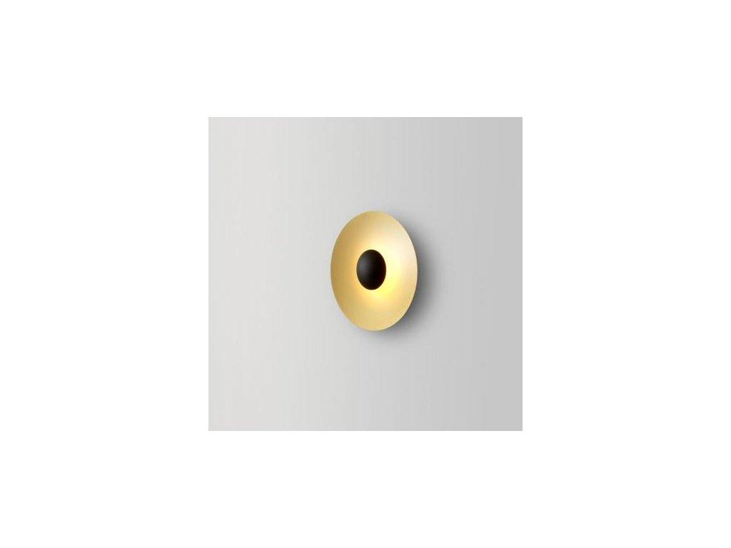 Marset Nástěnná lampa Ginger Ø 19,5 cm - mosazná
