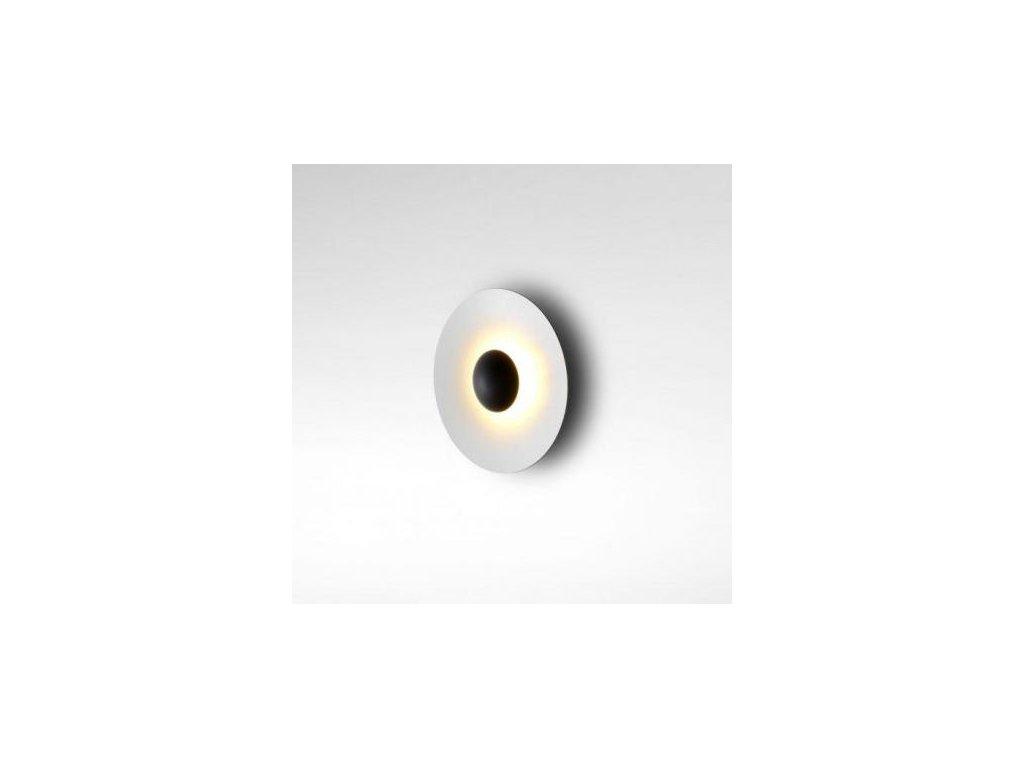 Marset Nástěnná lampa Ginger Ø 19,5 cm - černá, bílá