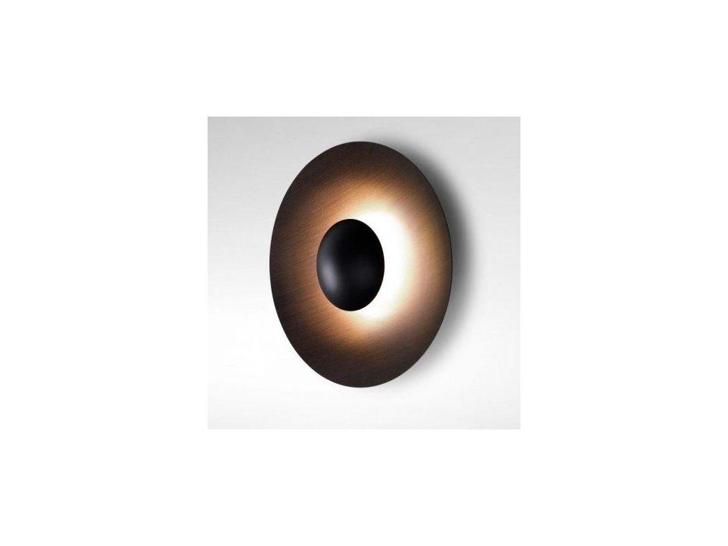 Marset Nástěnná lampa Ginger Ø 42 cm - wenge, bílá