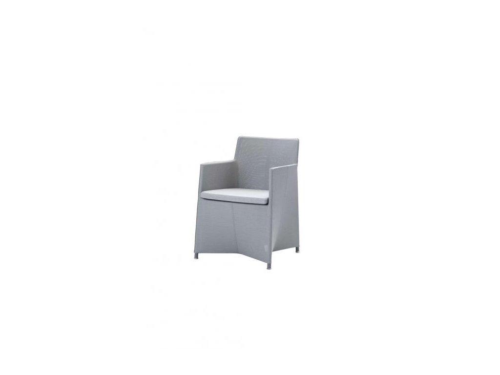 Cane-line Židle Diamond Tex - světle šedá