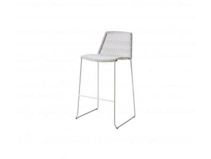 Cane-line Barová stolička Breeze - šedobílá