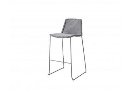 Cane-line Barová stolička Breeze - světle šedá