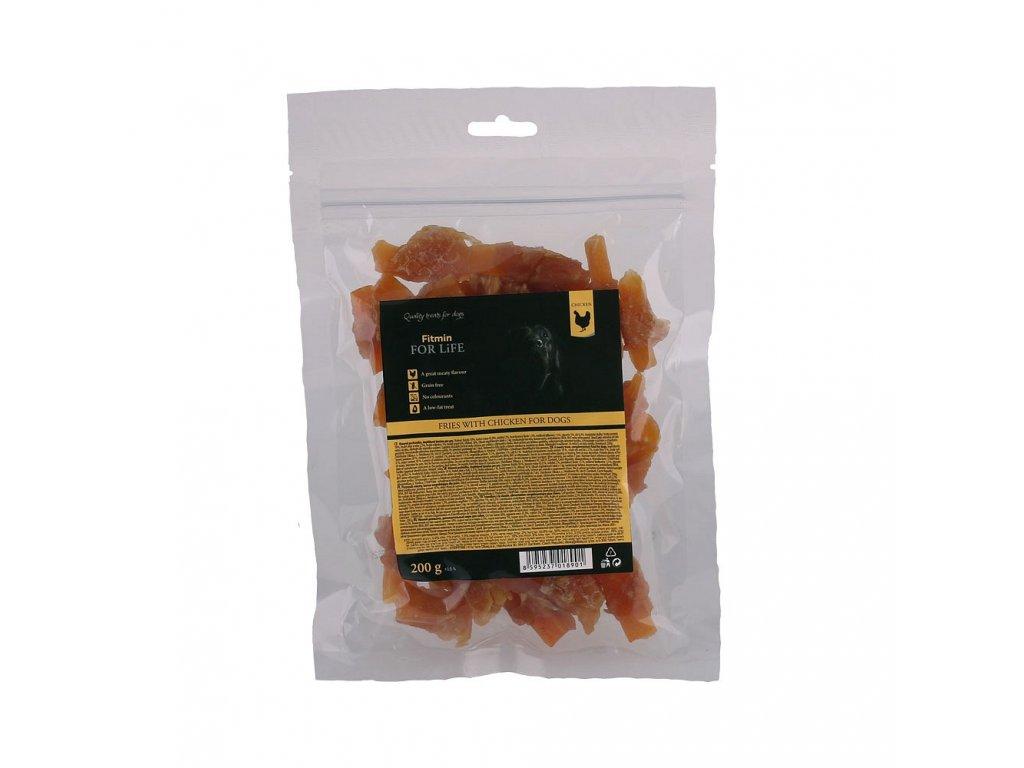 ffl dog treat fries with chicken 200g h L