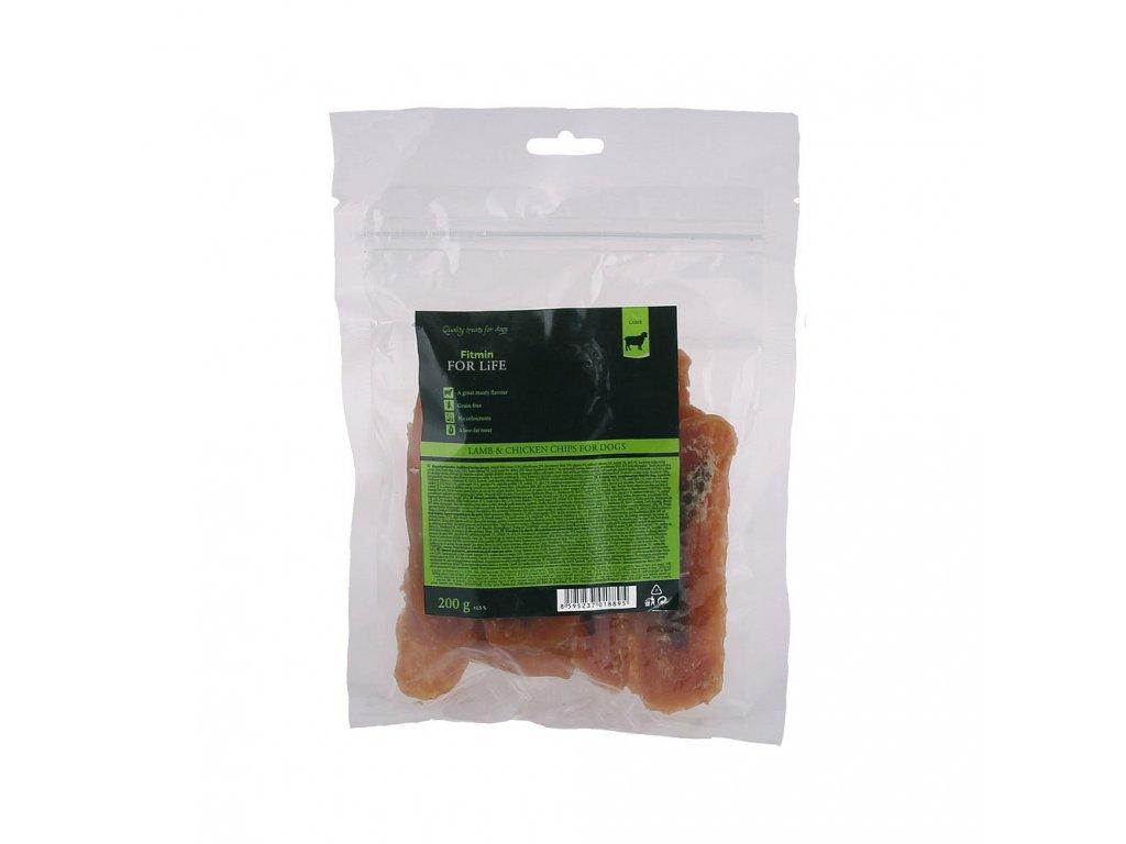 ffl dog treat lamb chicken chips 200g h L