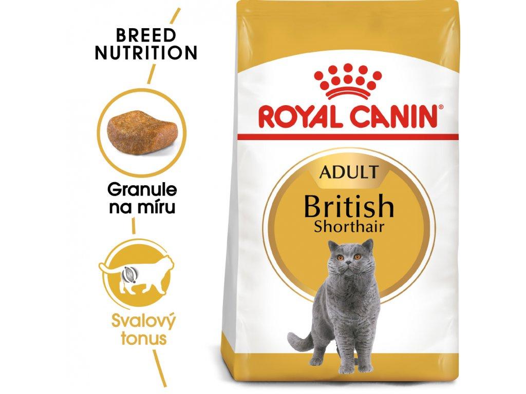 British Shorthair Adult granule pro britské krátkosrsté kočky - 2 kg