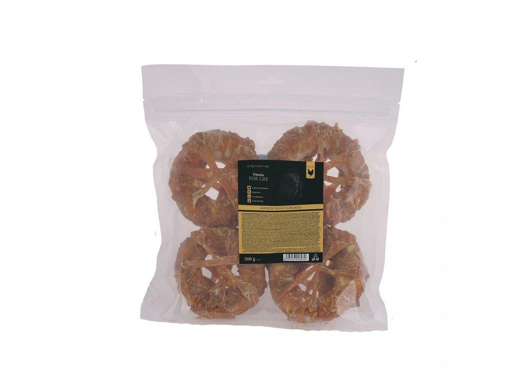 ffl dog treat rawhide donut 500g h L