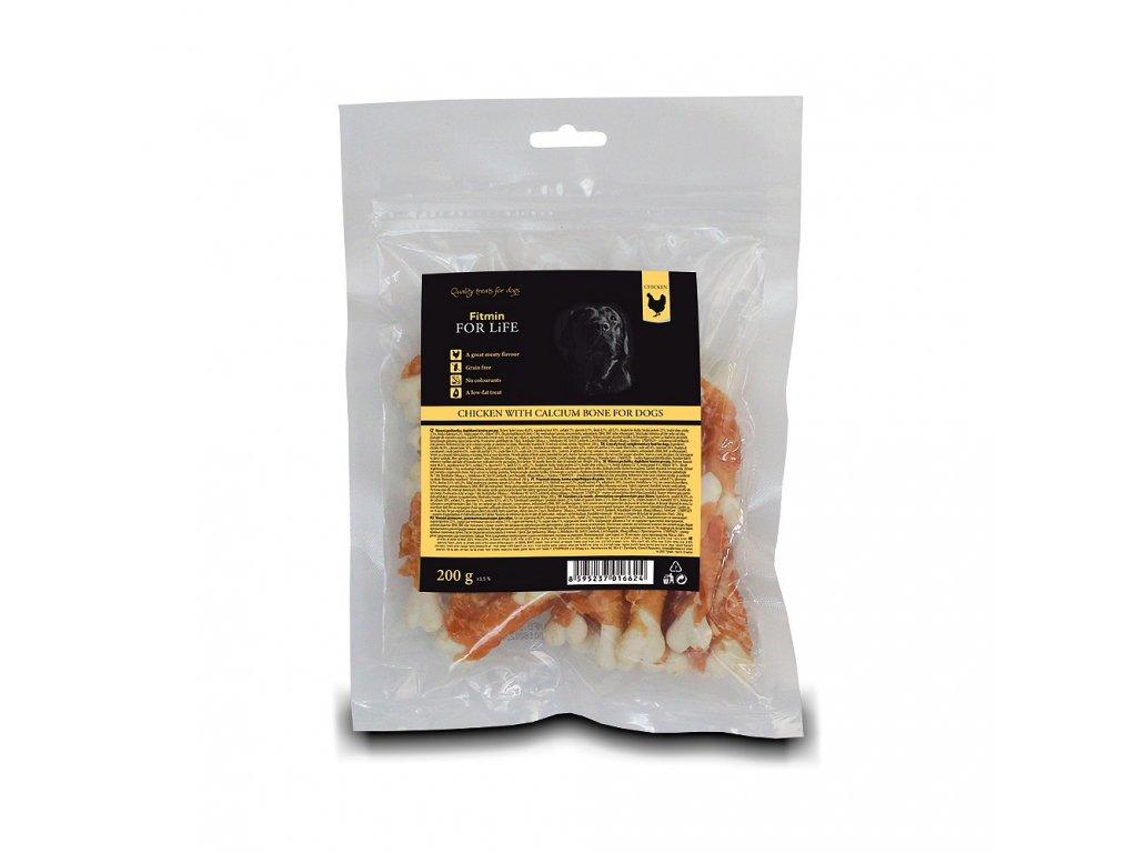 ffl dog treat chicken with calcium bone 200g h L