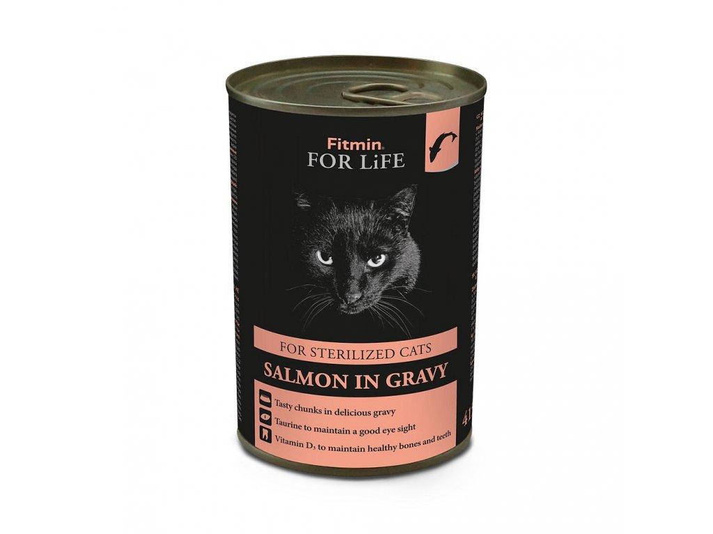 ffl cat tin sterilized salmon 415g h L