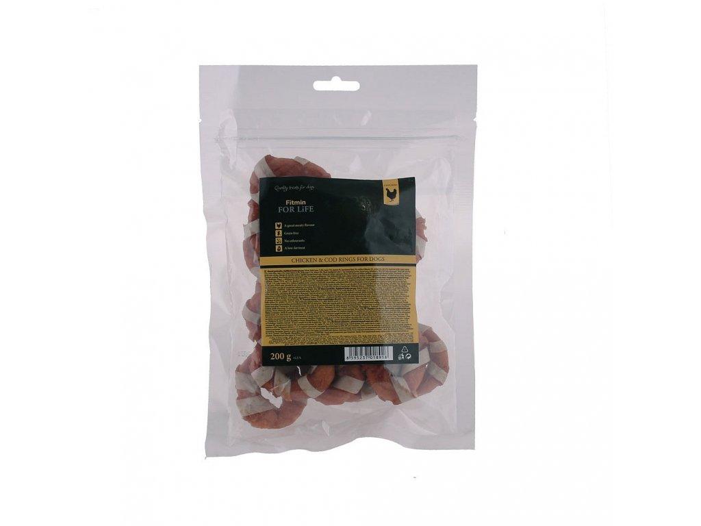 ffl dog treat chicken cod rings 200g h L