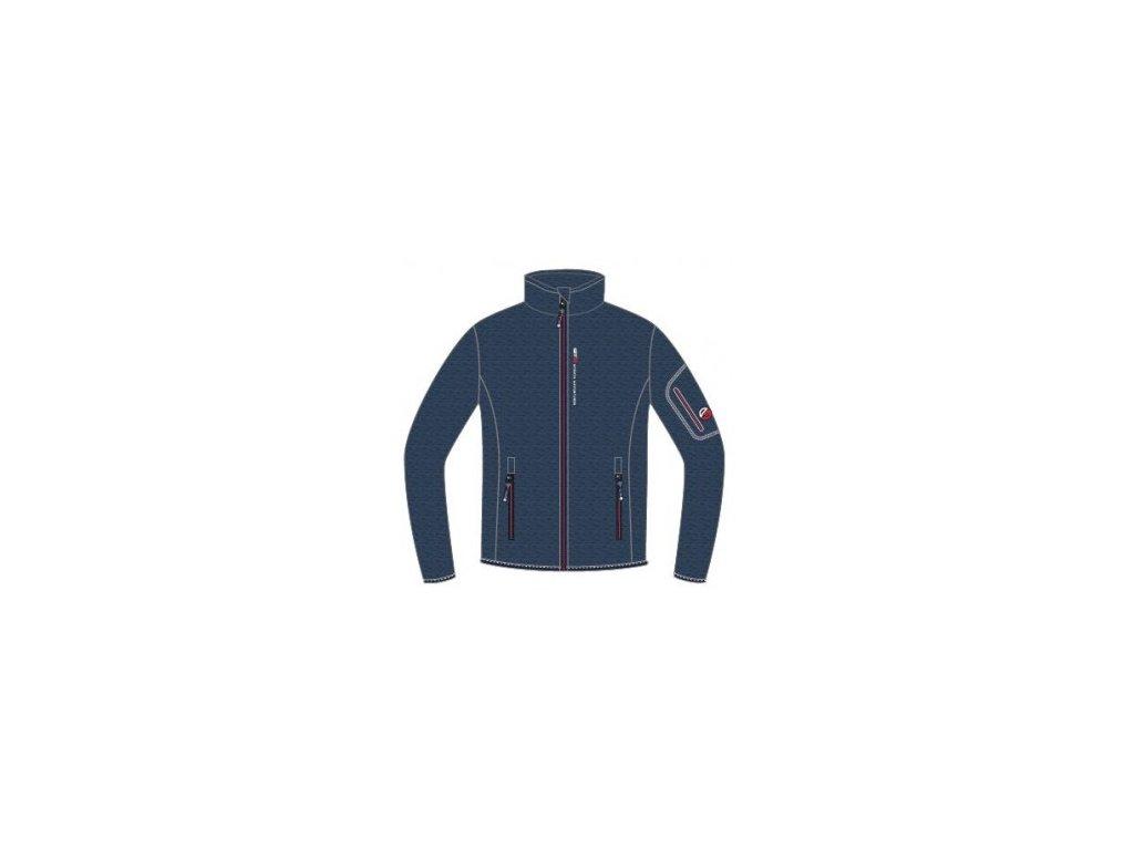 gts 4004 knitted fleece jacket melange navy