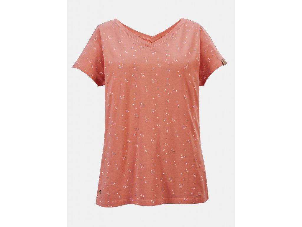 Oranžové dámské vzorované tričko killtec