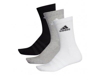 ponozky adidas cush crew grey white black 3 pary 73239