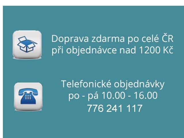 Informace k dopravě zdarma a telefonickým objednávkám