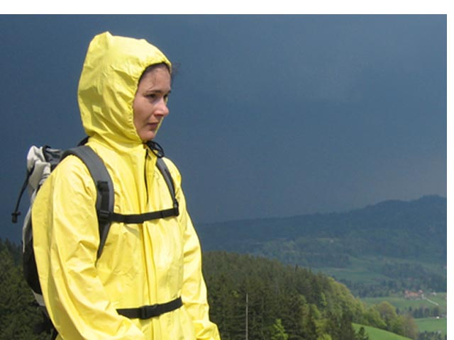 Nepromokavé membránové oblečení do deště