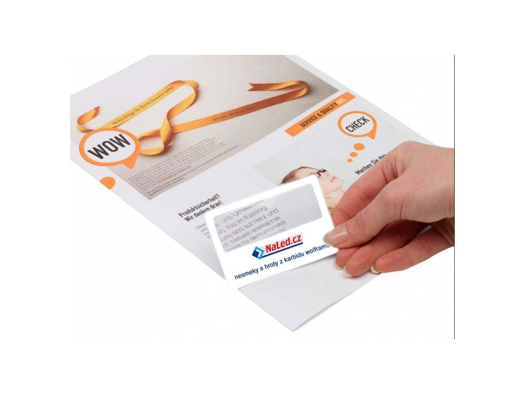 Lupa velikosti kreditní karty 2