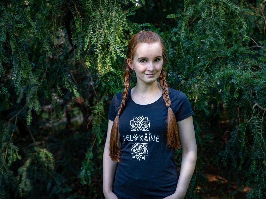 Tričko s logem dámské černé