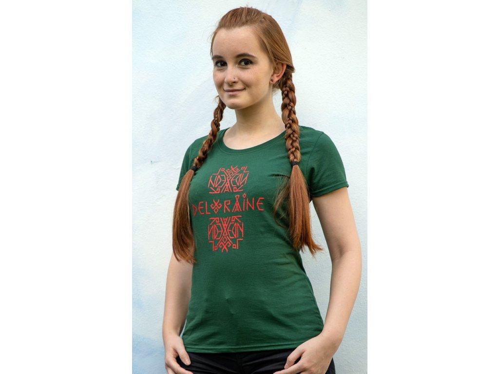 Tričko s logem dámské zelené