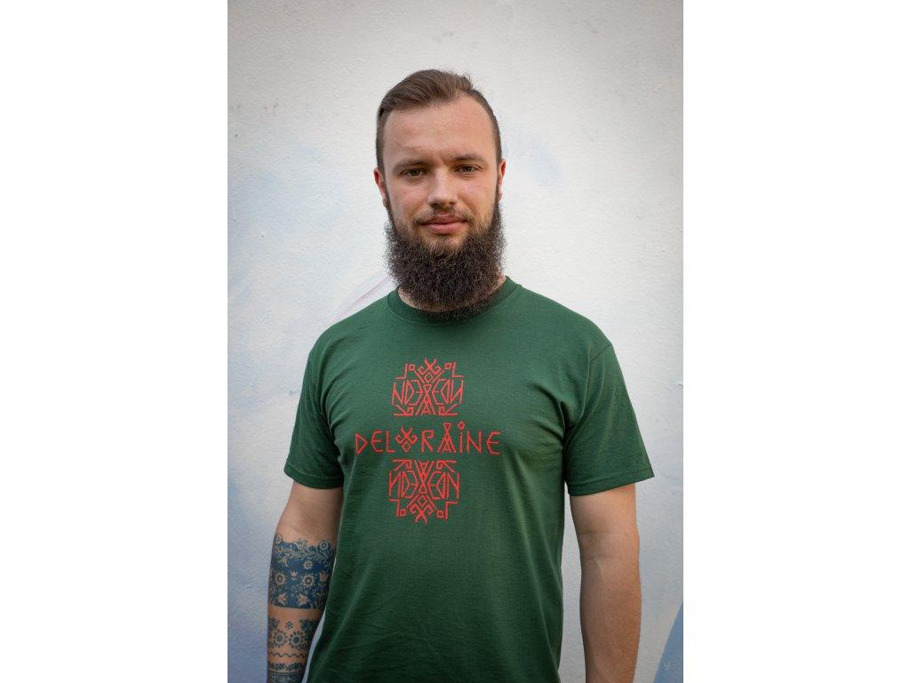 Tričko s logem pánské zelené