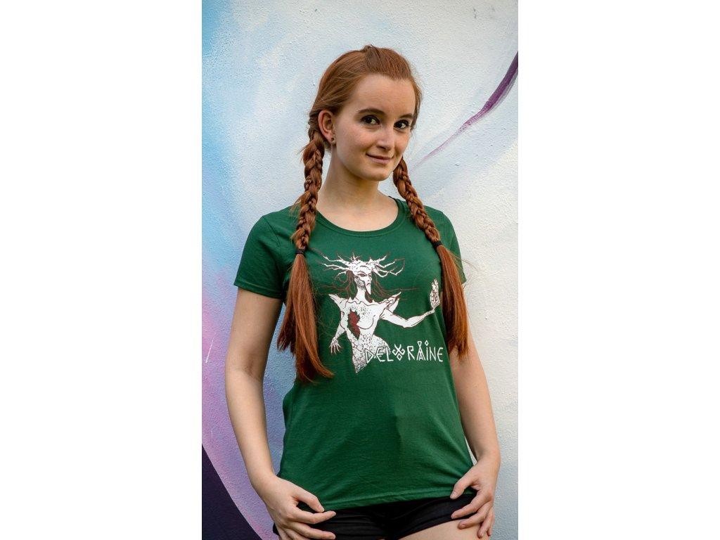 Tričko Srdce z kamene dámské zelené