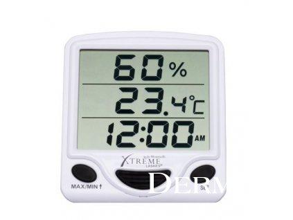 Vlhkoměr s hodinami Hydro Thermometer Clock