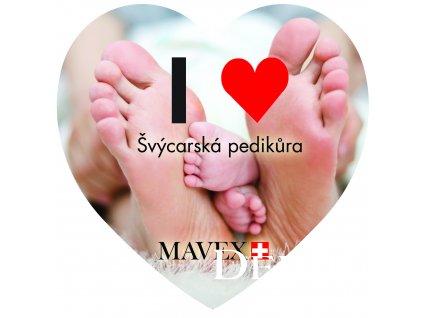 svycarska pedikura samolepka srdce