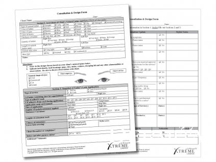 Konzultační formulář Xtreme Lashes - 50 ks