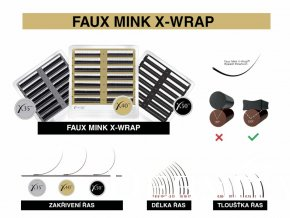 faux mink x wrap