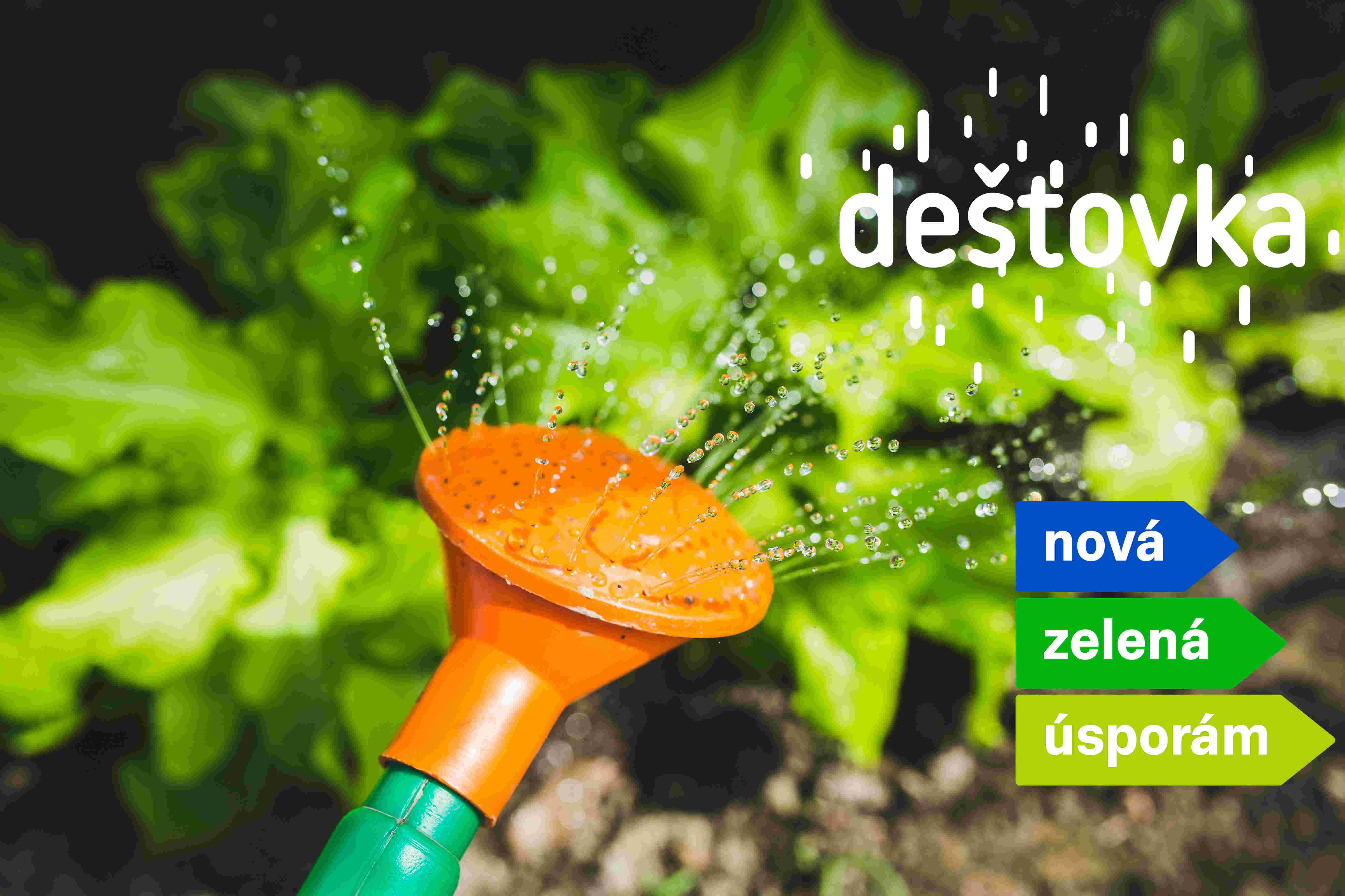 Dešťovka nove jako součást programu Nová zelená úsporám
