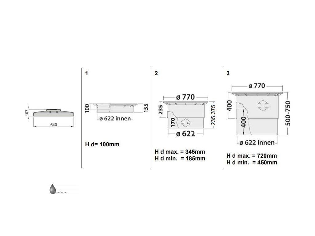 Podzemní nádrž na dešťovou vodu Atlantis 5,3 m3 - 5300l