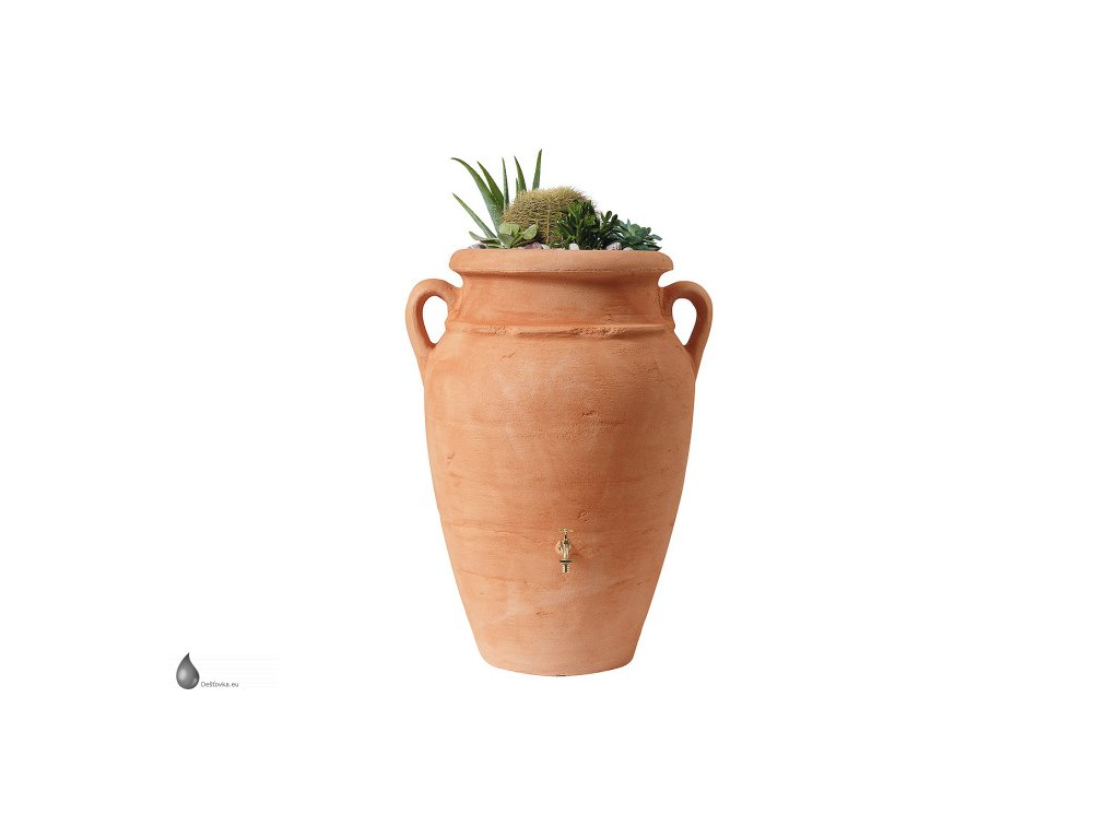 03 designovy zasobnik s kvetinacem pro destovou vodu AMPHORA