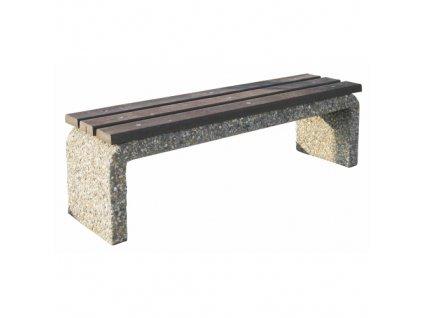 13851 betonova parkova lavicka bez operadla