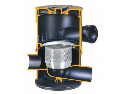 Vířivý filtr WFF 100 (Název WFF 100, vířivý filtr, velikost ok 0,44 mm, včetně prodlužovacího kusu)