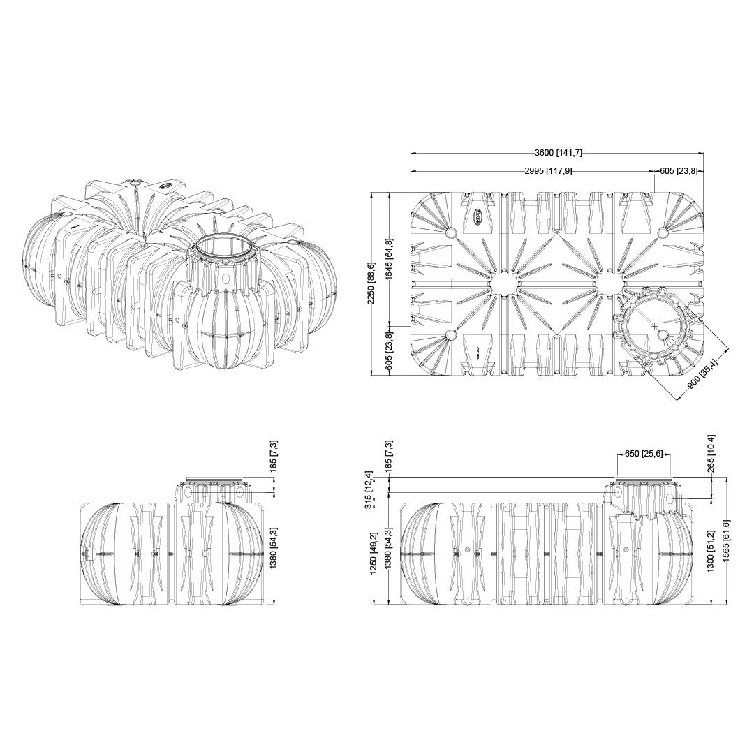 Nicoll Podzemní nádrž na vodu Li‑Lo - 7,5 m3