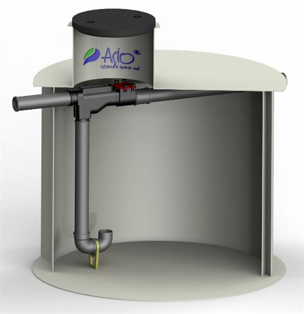ASIO Podzemní nádrž na dešťovou vodu AS-REWA ECO 8 EO - 8 m3
