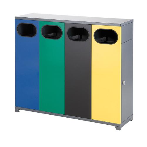 Interiérový koš na tříděný odpad - čtyřkoš