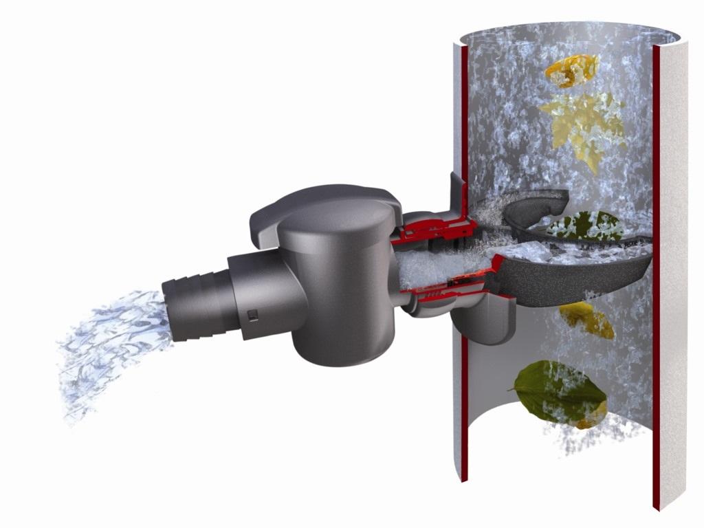 GRAF Sběrač dešťové vody s filtrem na rychlomontáž