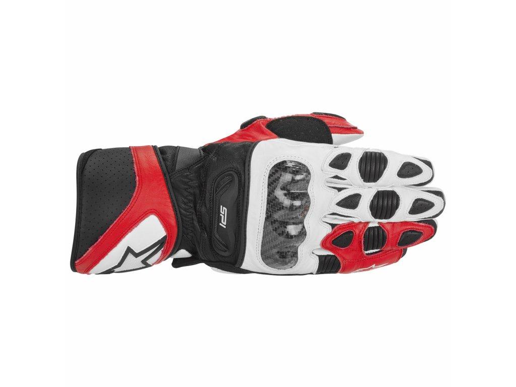 rukavice Alpinestars SP-1 červeno-bílo-černé