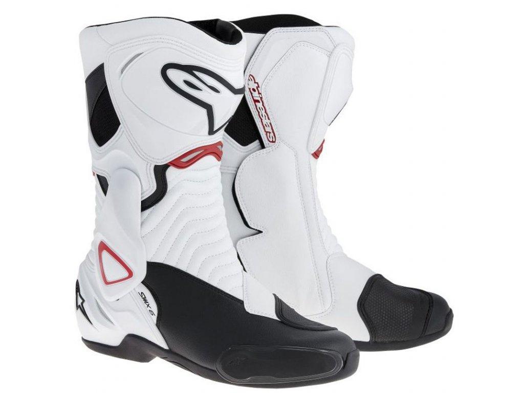 boty Alpinestars SMX-6 white-black-red