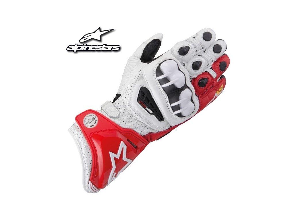 rukavice ALPINESTARS GP PRO černo-červeno-bílé