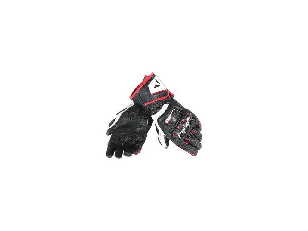 Rukavice Dainese DRUIDS ST černá-bílá-červená